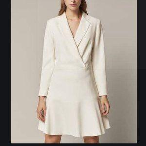 Massimo Dutti Womens A-Line V-neck Dress US 10 EU